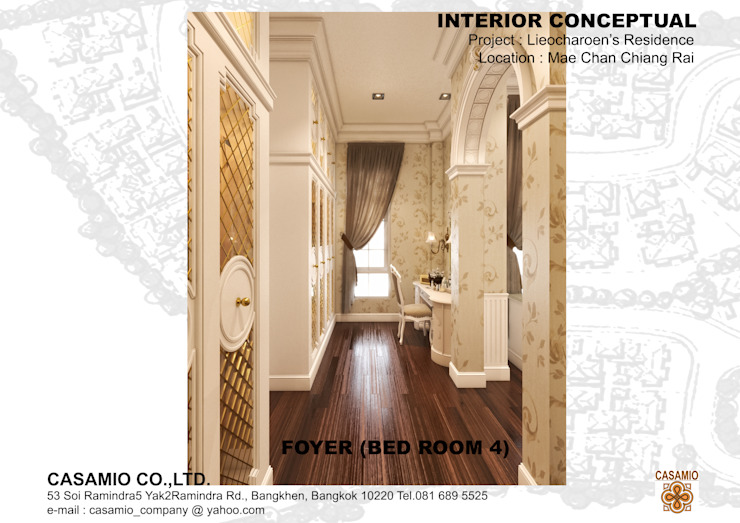LIEOCHAROEN's RESIDENCE Classic style dressing room by CASAMIO Co.,Ltd. Classic
