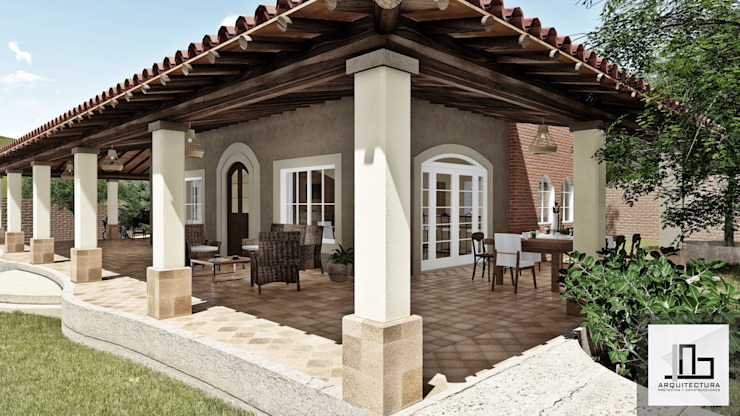 IAD Arqutiectura Rustic style house Tiles Beige