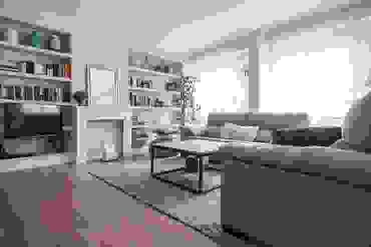 Sala de estar Livings de estilo escandinavo de Espacio Sutil Escandinavo
