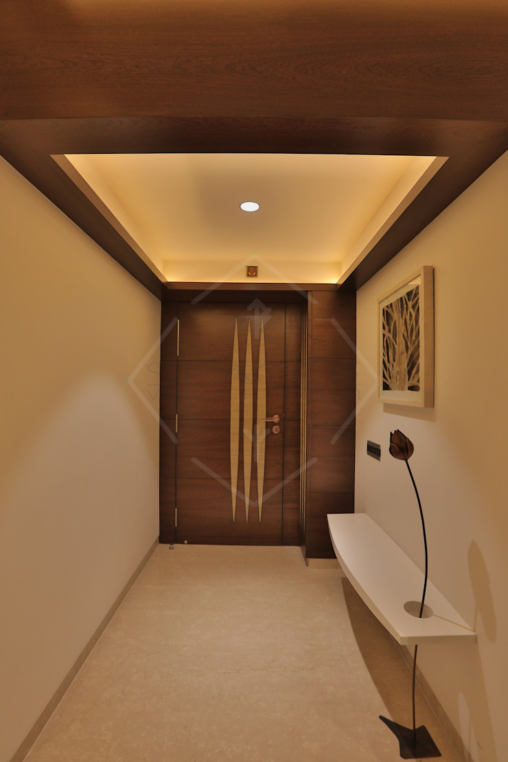 SKY DECK Asian style corridor, hallway & stairs by SPACCE INTERIORS Asian