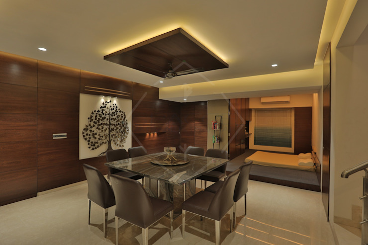 SKY DECK Asian style dining room by SPACCE INTERIORS Asian