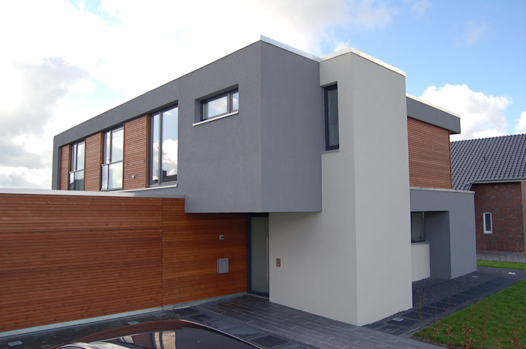 現代房屋設計點子、靈感 & 圖片 根據 3satz architekten 現代風