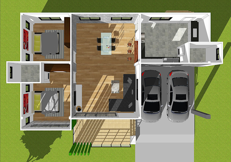 twin home โดย WANIT i-design