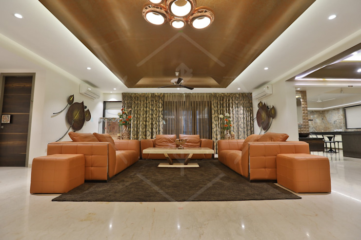 CAPITAL GREEN—1 Asian style living room by SPACCE INTERIORS Asian