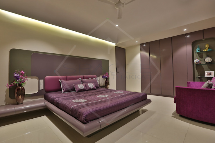 CAPITAL GREEN—1 Asian style bedroom by SPACCE INTERIORS Asian