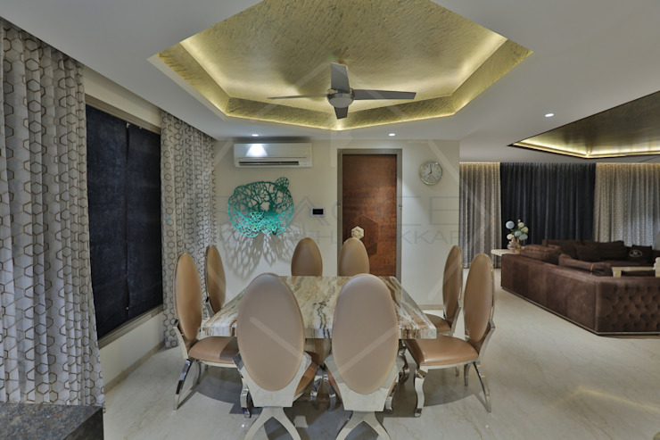Asian style dining room by SPACCE INTERIORS Asian
