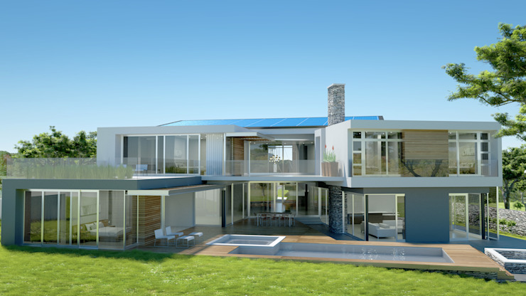 1200 square meter home in Steyn City by Luc Zeghers Architects
