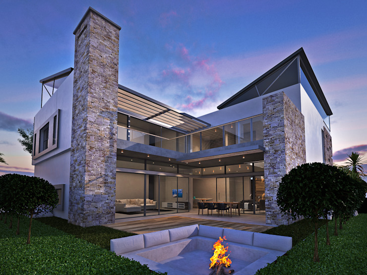 450 square meter home in Copperleaf Estate by Luc Zeghers Architects