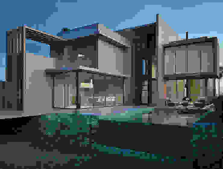 Residência AOK: Piscinas  por Marcos Baldasso Arquitetura,Moderno