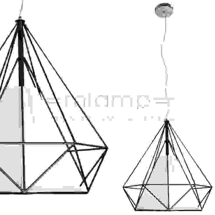 Lampa wisząca MILA od Mlamp Nowoczesny Syntetyk Brązowy