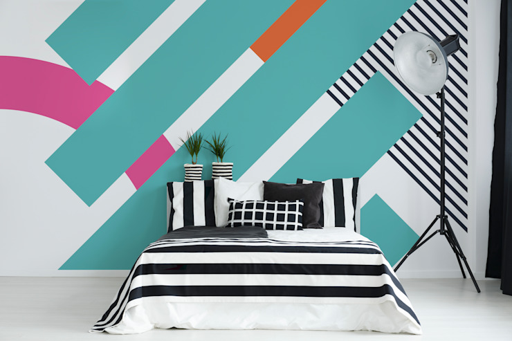 BEDROOM IN STRIPES Pixers ChambreAccessoires & décorations Multicolore