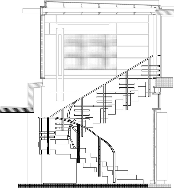 Bamboo Staircase by Inline Spaces Pty Ltd