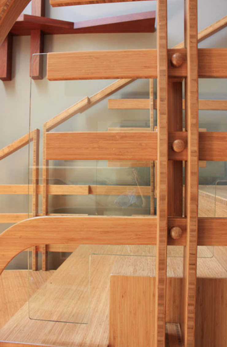 Bamboo Staircase: modern  by Inline Spaces Pty Ltd, Modern Glass