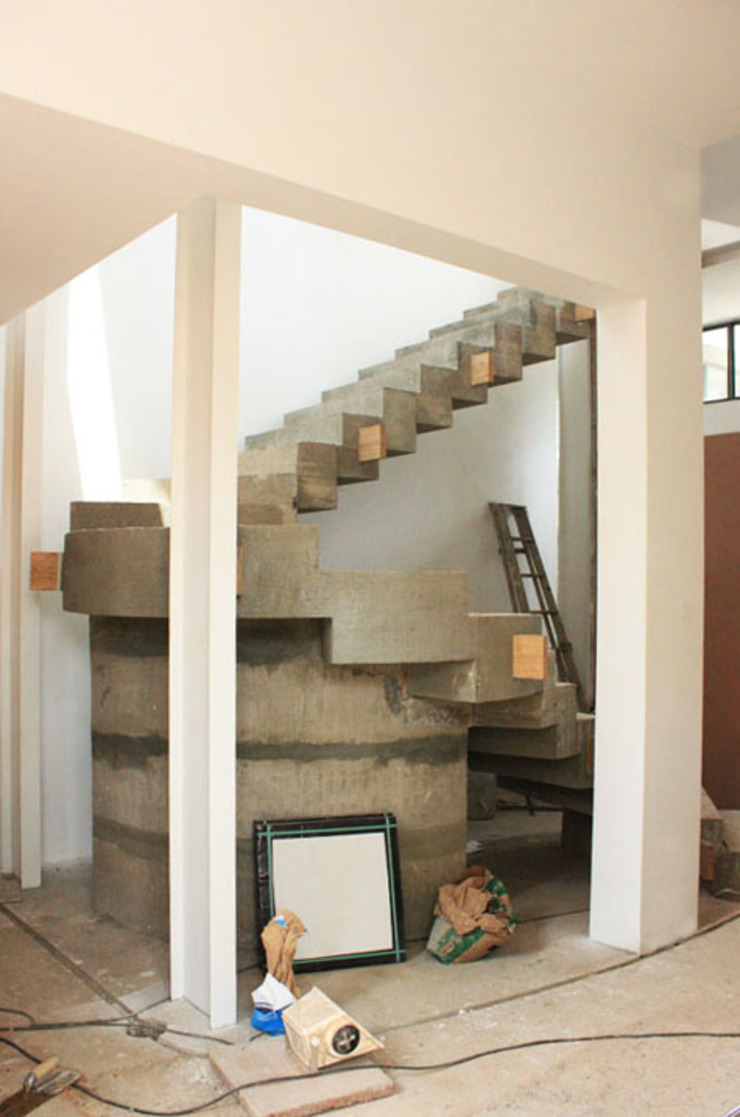 Bamboo Staircase: modern  by Inline Spaces Pty Ltd, Modern Concrete