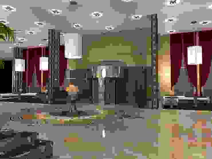 Five star hotel lobby Modern hotels by Gurooji Designs Modern