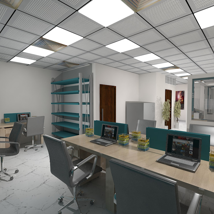 Office for Raj Minimalist offices & stores by Gurooji Designs Minimalist