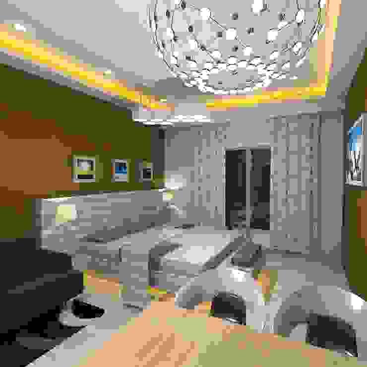 Palacio Studio Apartment Modern style bedroom by Gurooji Designs Modern