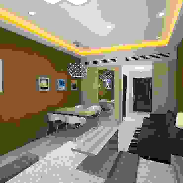 Palacio Studio Apartment Modern living room by Gurooji Designs Modern