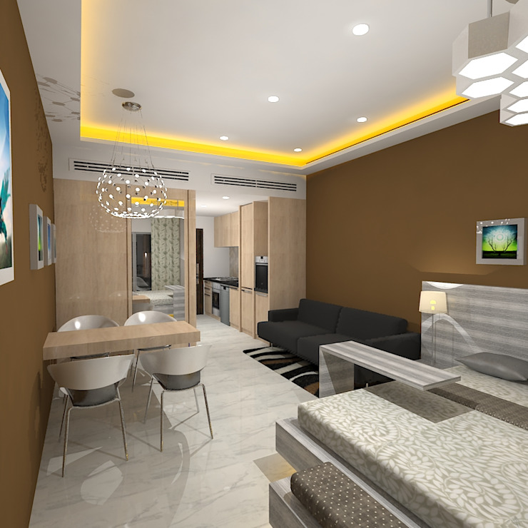 Gurooji Designs Modern Living Room