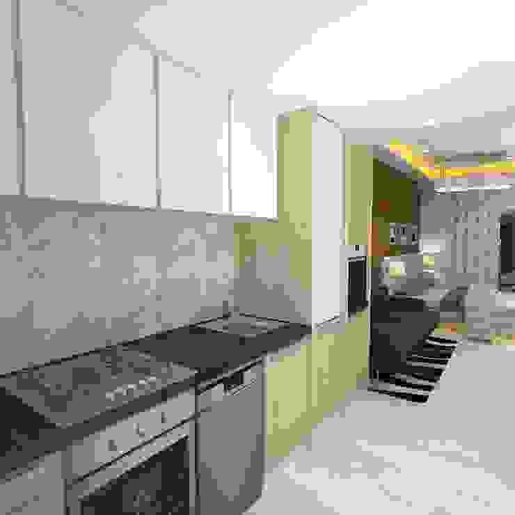 Palacio Studio Apartment Modern kitchen by Gurooji Designs Modern