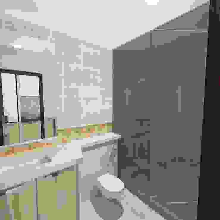 Palacio Studio Apartment Modern bathroom by Gurooji Designs Modern