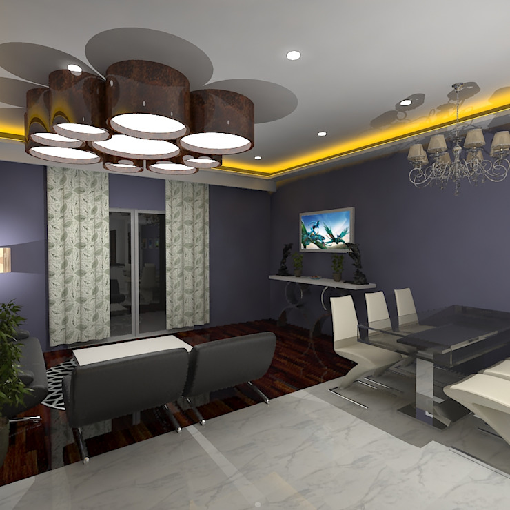 Gurooji Designs Modern Dining Room