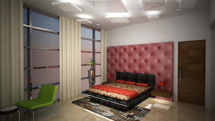 Laurel Interiors Modern style bedroom by Gurooji Designs Modern