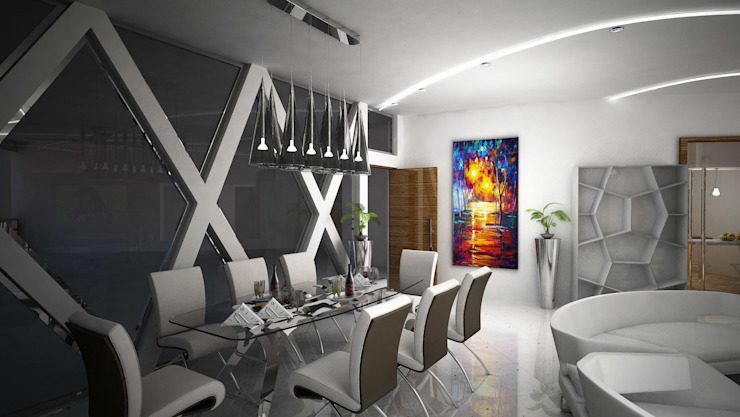 Laurel Interiors Modern dining room by Gurooji Designs Modern