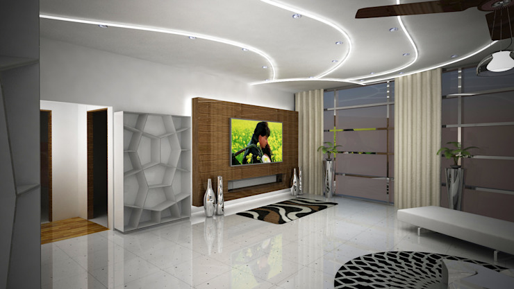 Laurel Interiors Modern living room by Gurooji Designs Modern