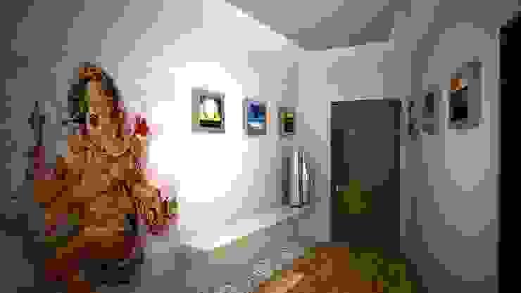 Laurel Interiors Gurooji Designs Modern corridor, hallway & stairs