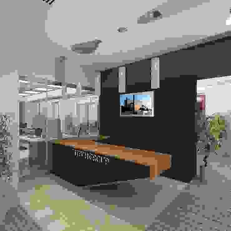 Tech Group Reception Modern offices & stores by Gurooji Designs Modern