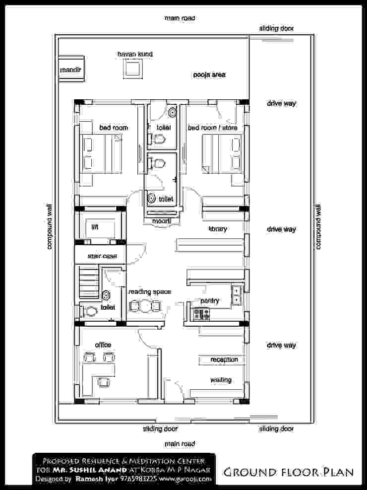 Meditation Center Modern houses by Gurooji Designs Modern