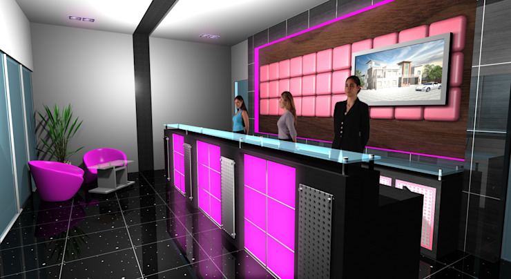 Star Dome Real Estate - Reception Modern offices & stores by Gurooji Designs Modern