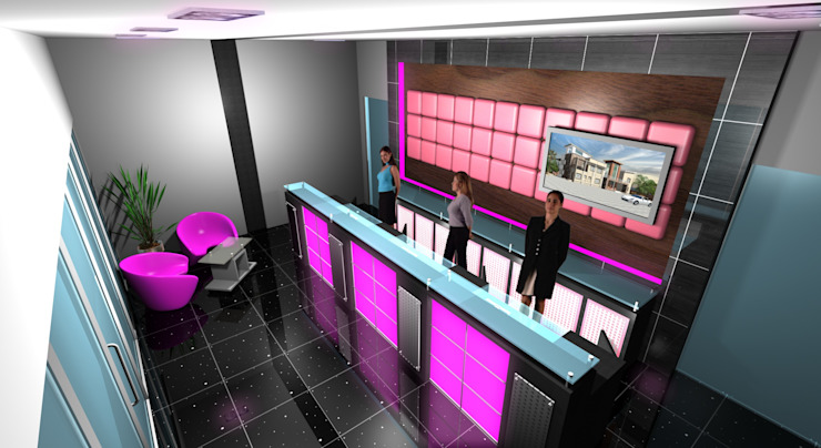 Star Dome Real Estate—Reception Modern offices & stores by Gurooji Designs Modern