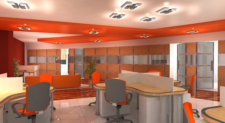 RTS Office Modern offices & stores by Gurooji Designs Modern