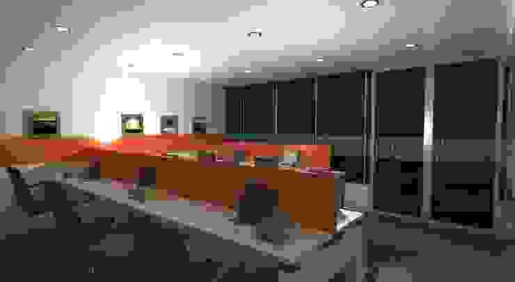 Office Design for Robin singh Modern offices & stores by Gurooji Designs Modern