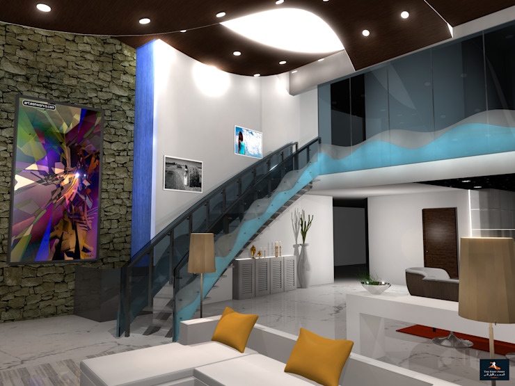 Loft Apartment Modern living room by Gurooji Designs Modern