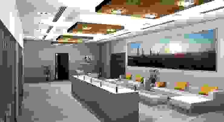 Dubai Allied Digital Media Office Modern offices & stores by Gurooji Designs Modern