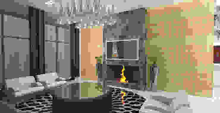 Barari Villa Modern living room by Gurooji Designs Modern