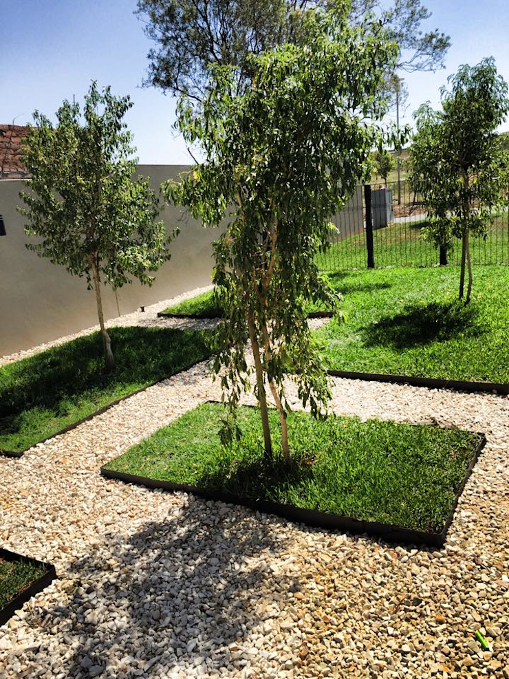 Modern features with clean geometric lines Acton Gardens Modern Garden