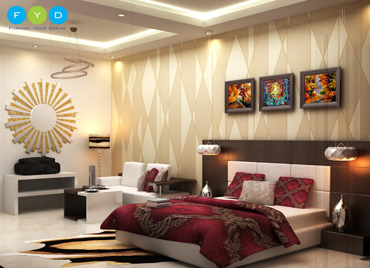 Your home should tell the story of who you are, and be a collection of what you love. Modern style bedroom by FYD Interiors Pvt. Ltd Modern