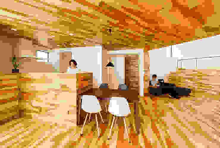 haus-duo 北欧デザインの ダイニング の 一級建築士事務所haus 北欧 木 木目調