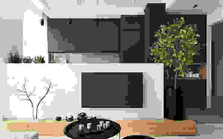 Modern Living Room by Spacja Studio Modern Concrete