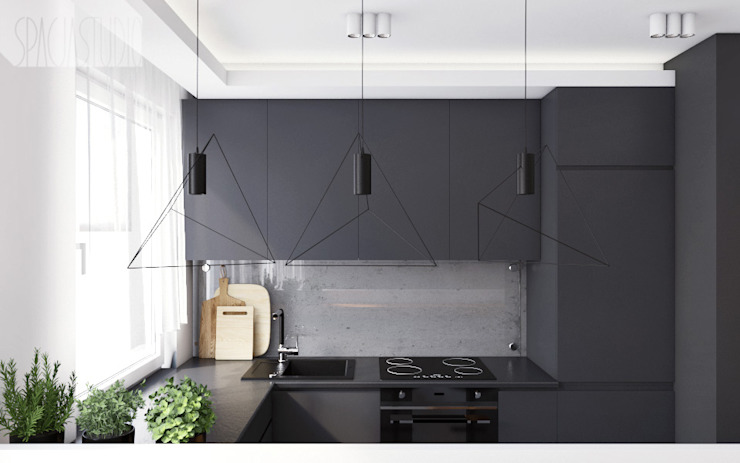 Modern Kitchen by Spacja Studio Modern Concrete