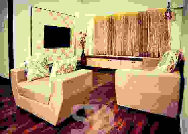 T.V. Unit and Formal Sofa Seating arrangement by SUMEDHRUVI DESIGN STUDIO Minimalist