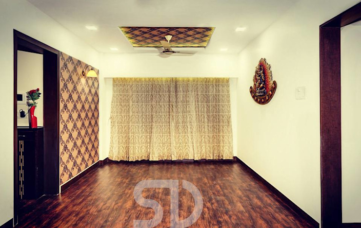 Dining Space in Living Room Minimalist dining room by SUMEDHRUVI DESIGN STUDIO Minimalist