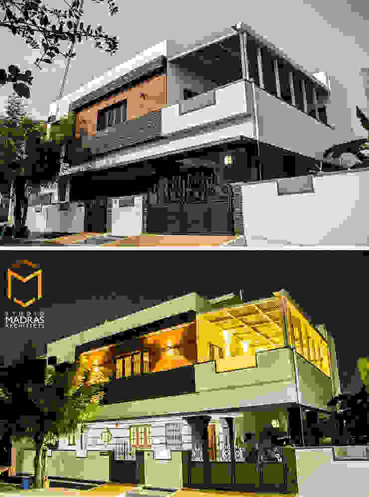 Dusk & Dawn Minimalist houses by Studio Madras Architects Minimalist