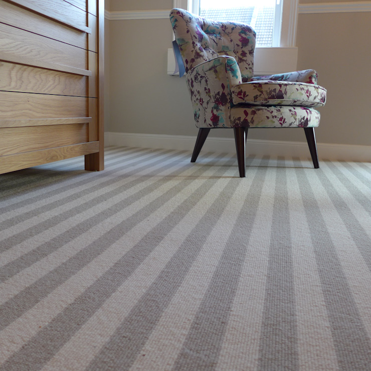 striped bedroom carpet par Style Within Moderne Laine Orange