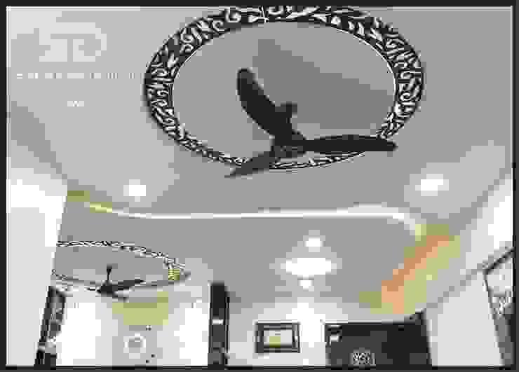 False Ceiling Modern Living Room by SUMEDHRUVI DESIGN STUDIO Modern