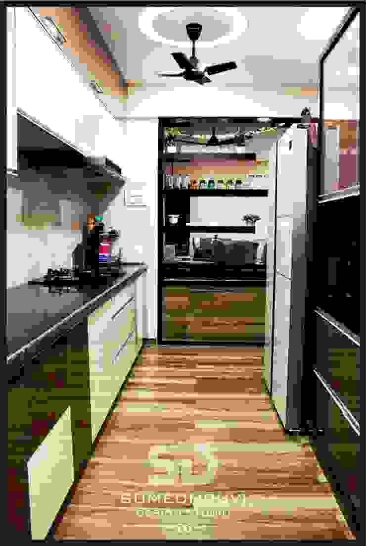 Open Kitchen Concept Modern Kitchen by SUMEDHRUVI DESIGN STUDIO Modern